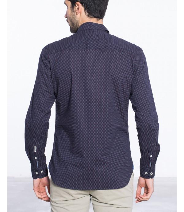 Camicia microfantasia regular fit in puro cotone