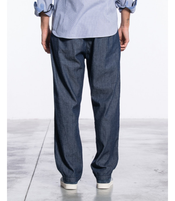 Pantaloni kimono in denim comfort fit