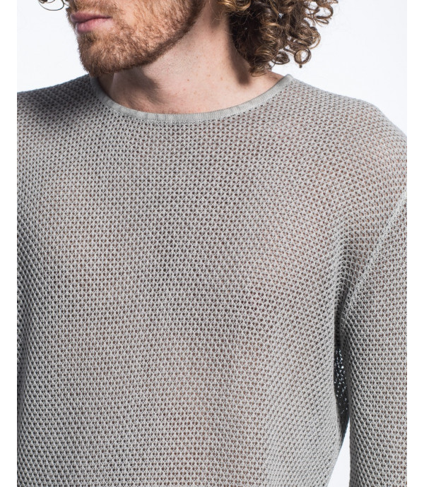 Maglioncino girocollo a maglie larghe in cotone