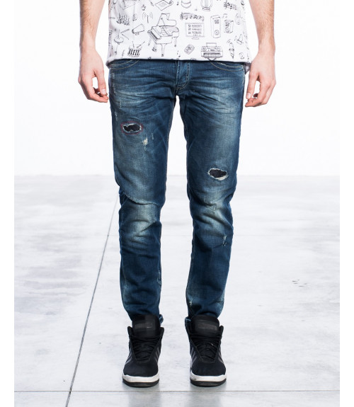 Jeans slim fit con toppe