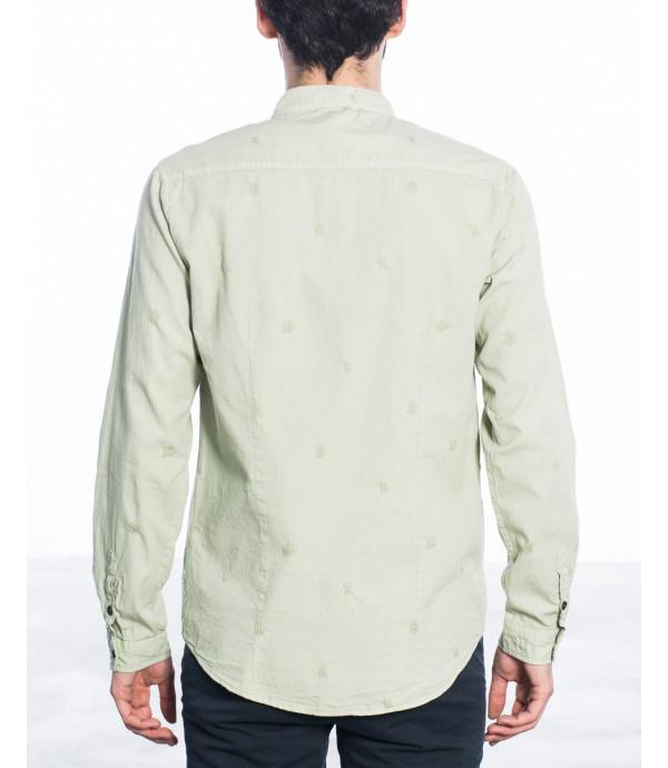 Camicia coreana con graffi in cotone