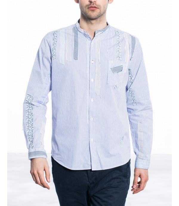 Camicia con patch regular fit