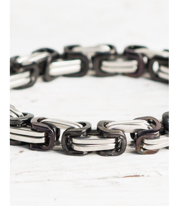 Braccialetti di perline in pietra e acciaio