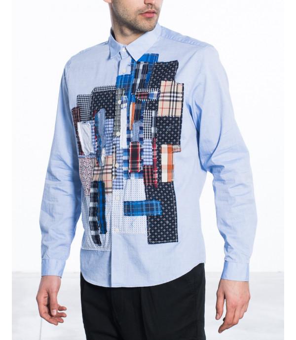 Camicia regular con patchwork