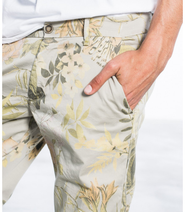 Chinos slim fit in fantasia floreale