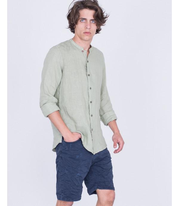 Camicia coreana in lino