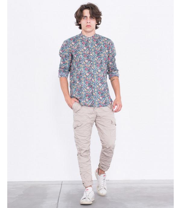 Camicia coreana a fiori