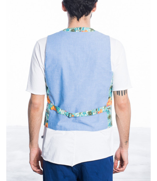 Gilet In fantasia hawaiana