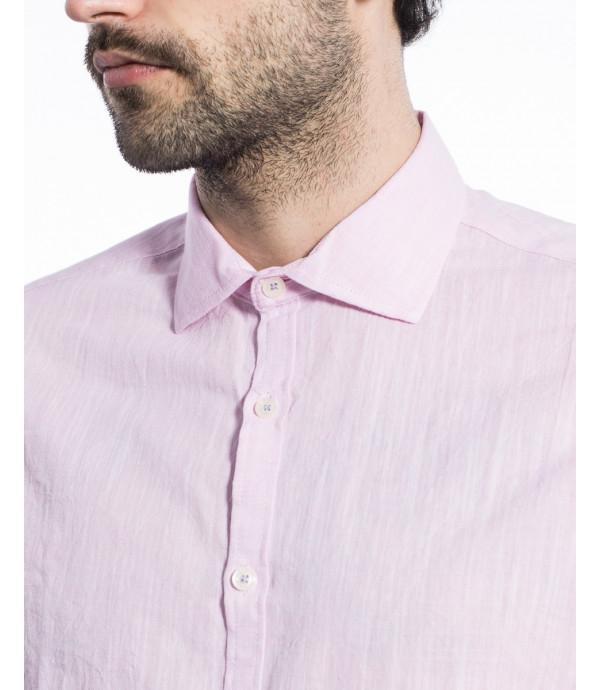 Camicia Basica con collo alla francese in cotone