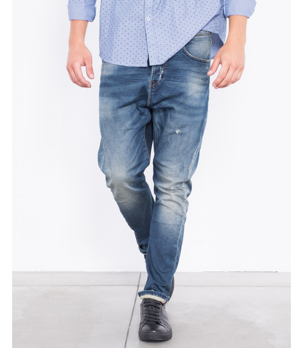 Jeans skinny ffit con effetto sbiadito