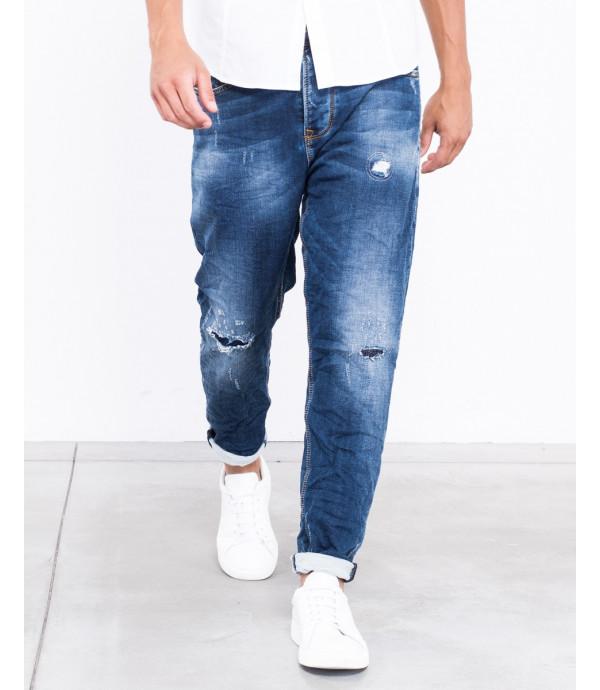 Jeans carrot fit slavati rip and repair