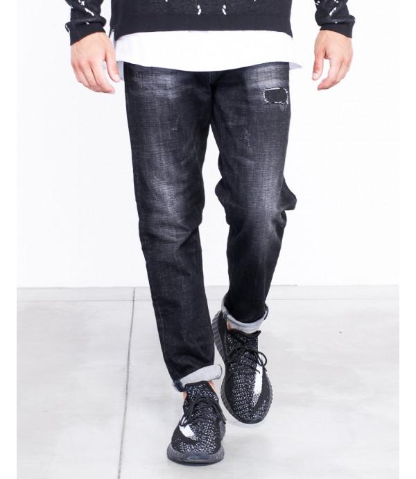 Jeans regular fit nero