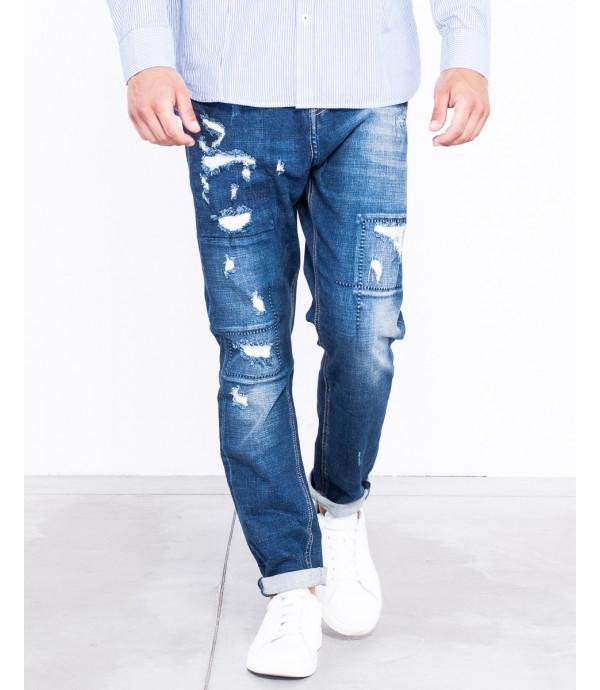 Jeans regular fit con cuciture