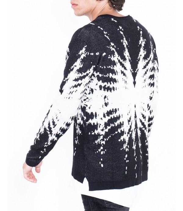 Maglione fantasia bianco e nero
