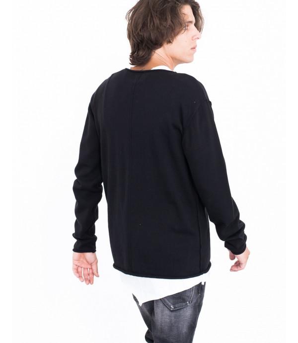 Maglione con taschino e spalle scese