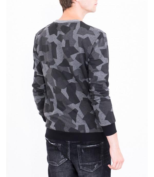 Felpa in camouflage geometrico