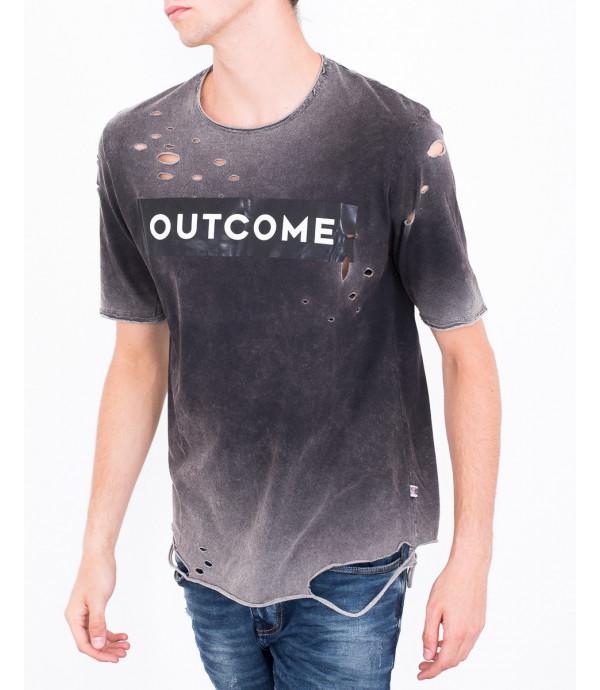 T-shirt slavata effetto usurato