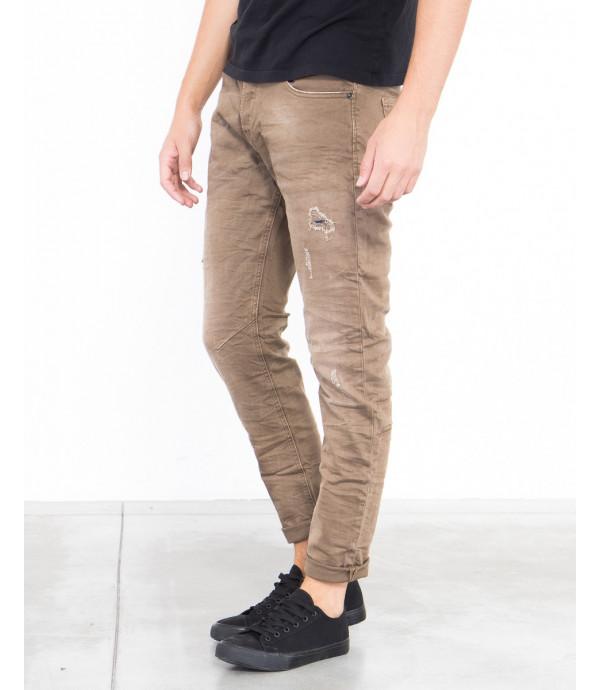 Jeans slim fit effetto consumato