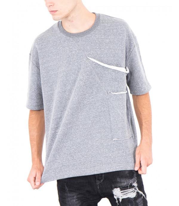 Jersey a manice corte con tascone