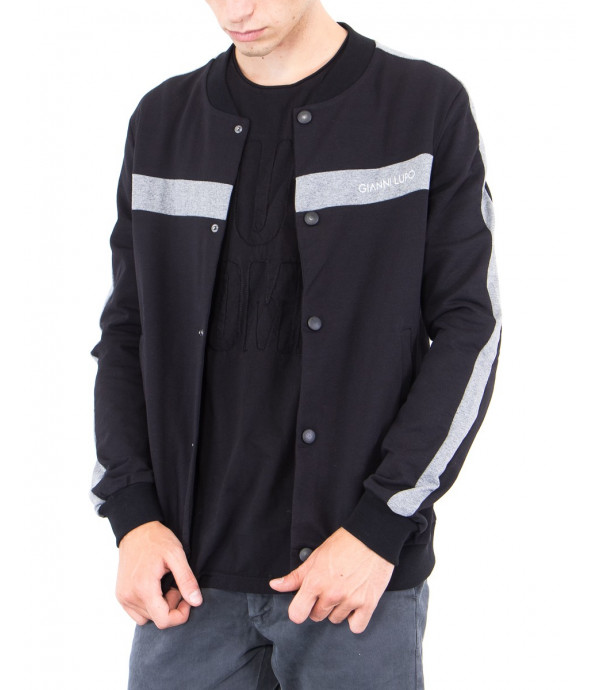 Bomber in jersey con logo GL