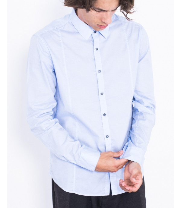 Camicia slim fit in fatansia