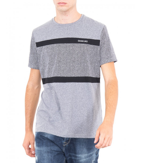 T-shirt a blocchi con logo GL