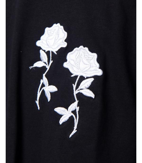 T-shirt long fit con ricamo