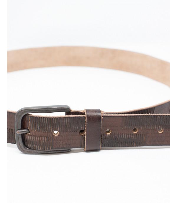 Cintura in pelle lavorata