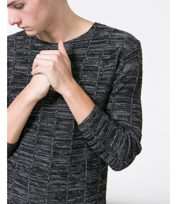 Maglione a sezioni verticali