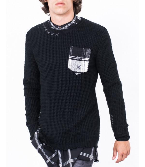 Maglione girocollo con taschino