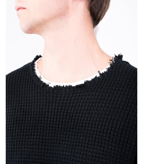 Maglione collo doppio