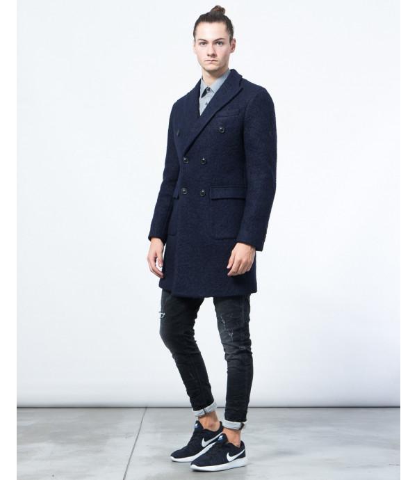 Cappotto doppiopetto in lana cotta