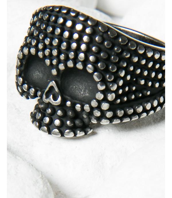Skull spiked ring