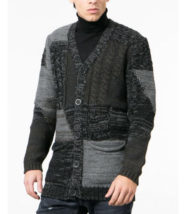 Cardigan in maglia a pannelli