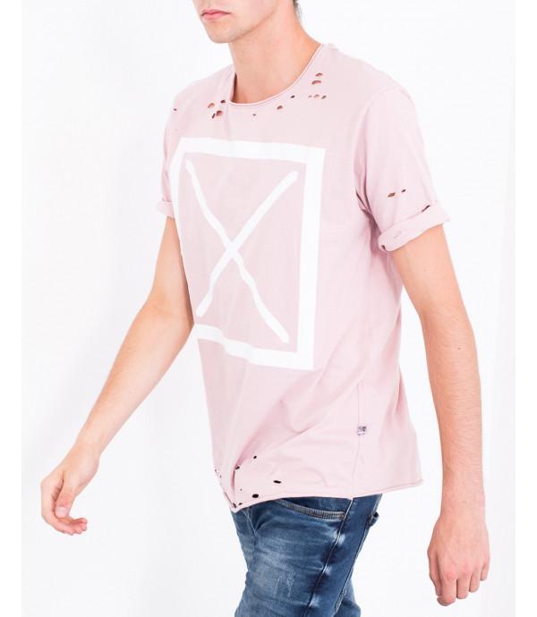 T-shirt effetto usurato