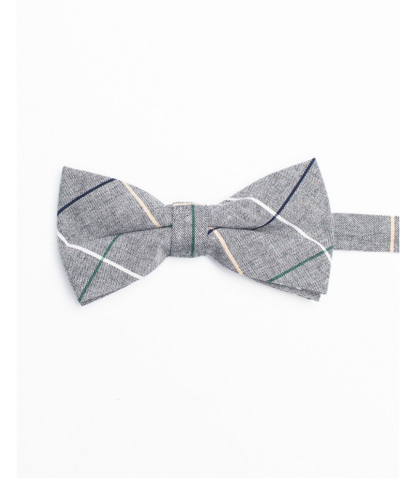 Knitted cotton bow-tie
