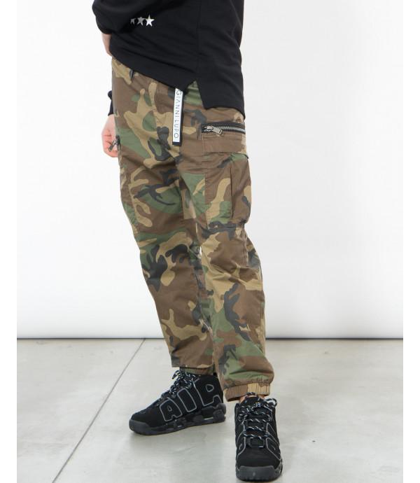 Pantaloni cargo camouflage