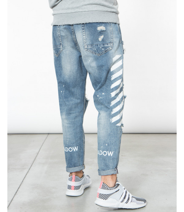 Jeans strappati carrot fit effetto distressed OUTCOME