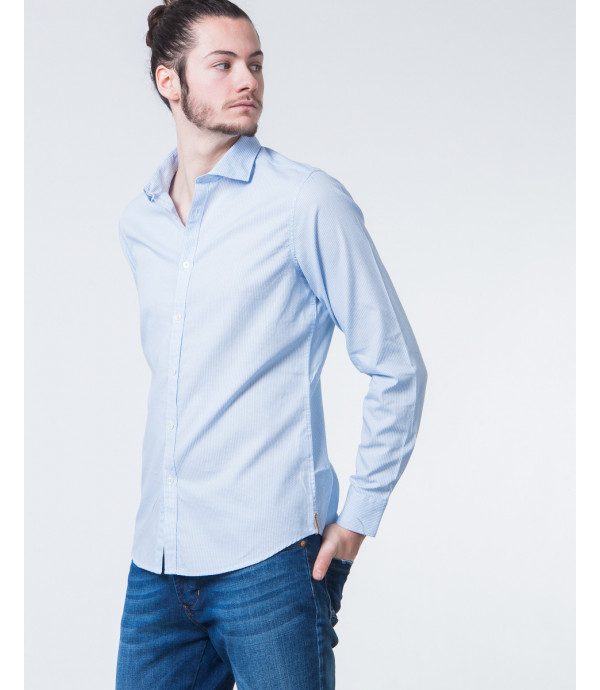 Camicia in microfantasia intrecciata