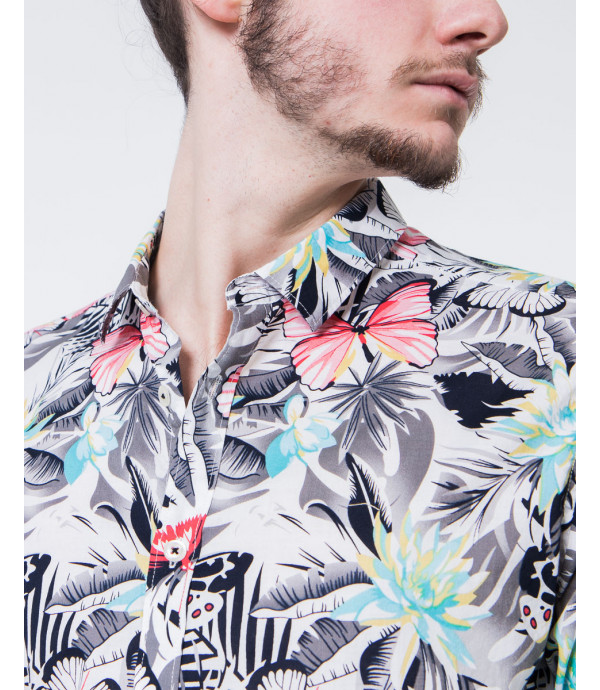 Camicia fantasia floreale vintage