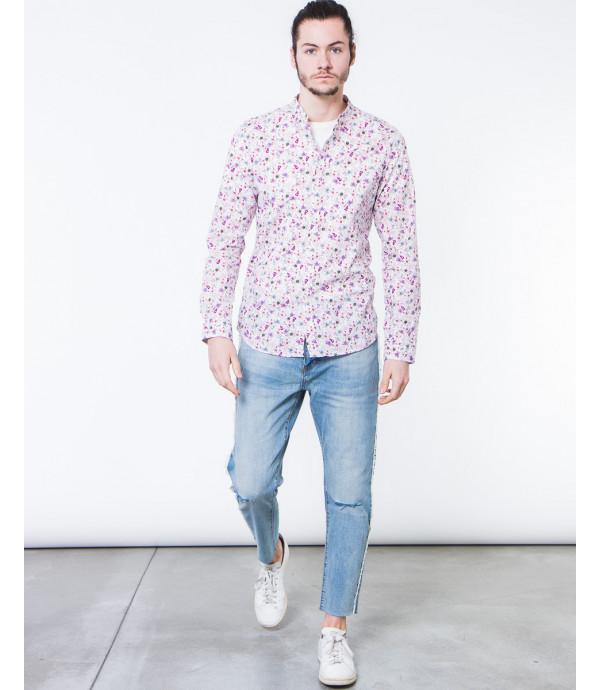 Camicia coreana in fantasia floreale