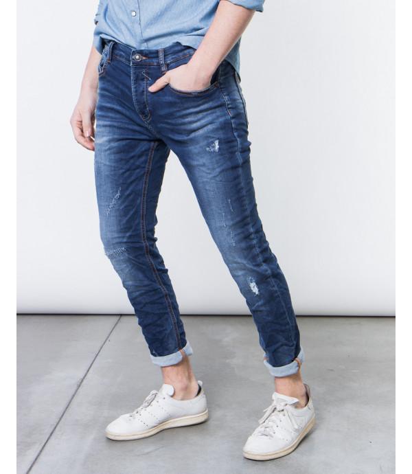 Jeans skinny fit con graffi