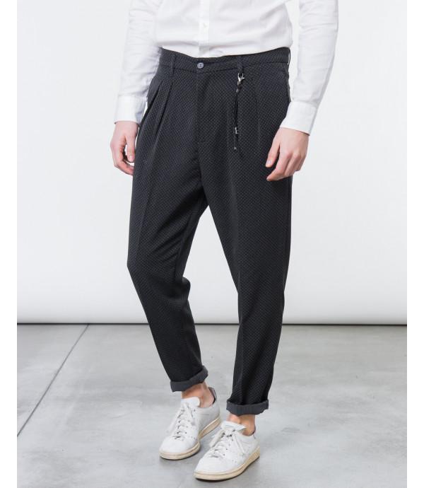 Pantalone microfantasia comfort fit