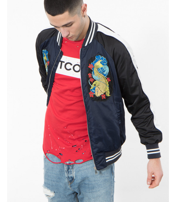 Giacca bomber con patch