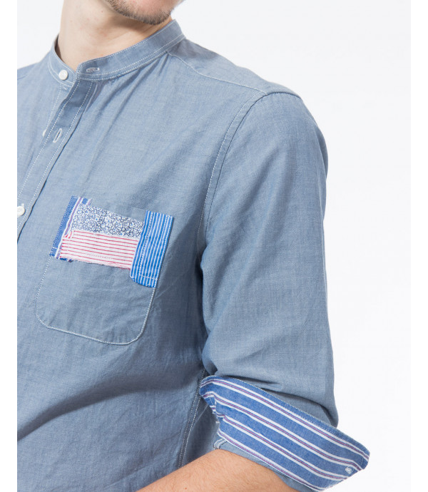 Camicia regular fit con patch