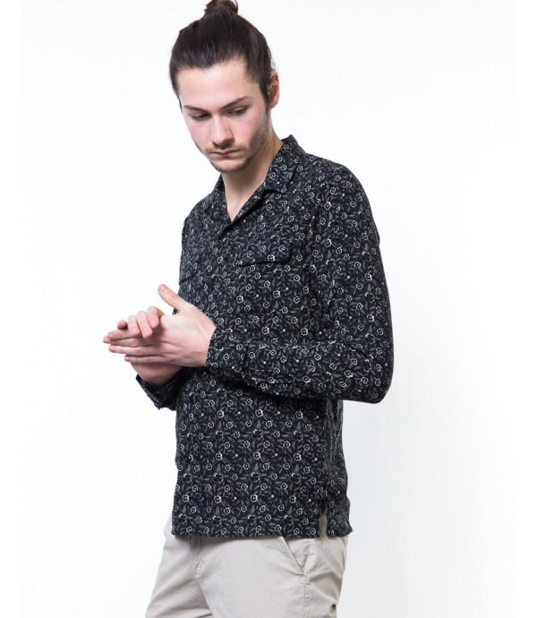 Camicia in microfantasia con taschini