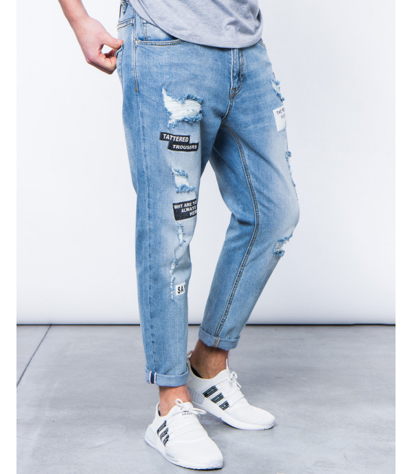 Jeans silm fit con stampe