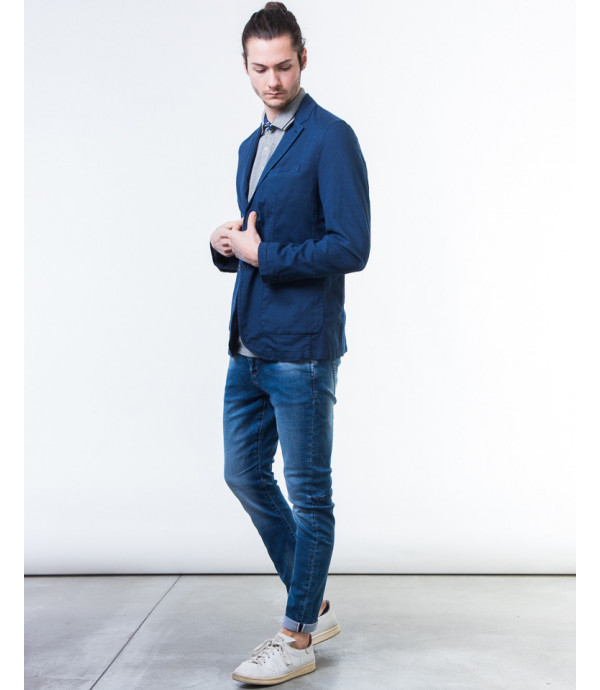 Giacca slim fit in stampa damascata