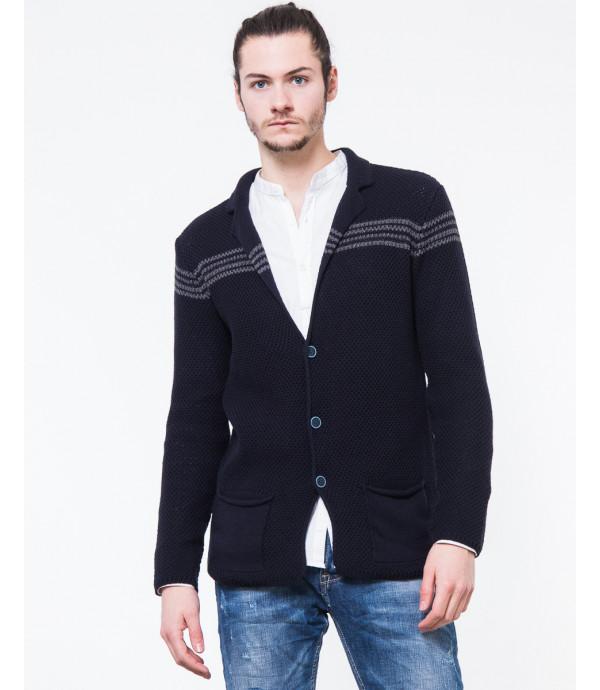 Cardigan in maglia con bande
