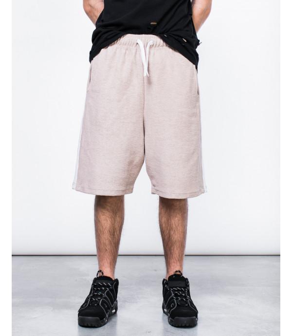 Shorts in felpa con banda reverse